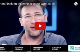 Simon Sinek parle des millennials au travail.
