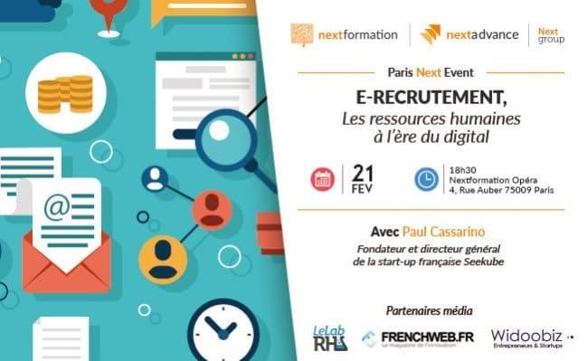Evènement sur l'e-recrutement, les RH à l'heure du digital.