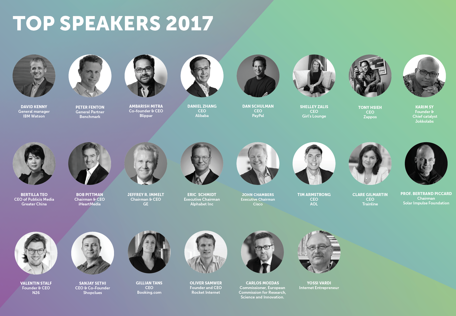 Top speakers 2017 VivaTech