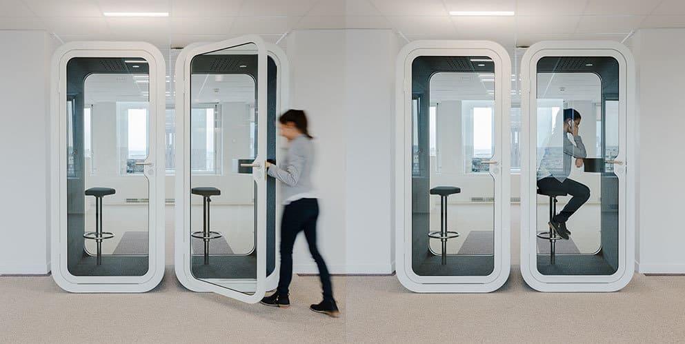 Cabine acoustique pour téléphoner en open-space
