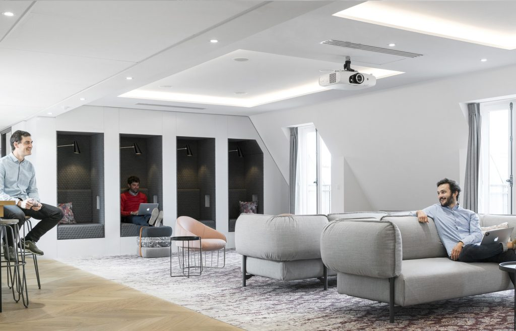 bureaux airbnb paris salle detente