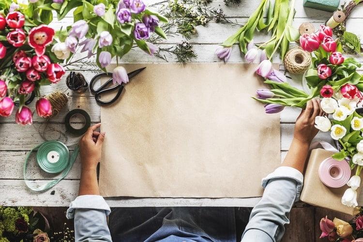 Préparation d'un bouquet